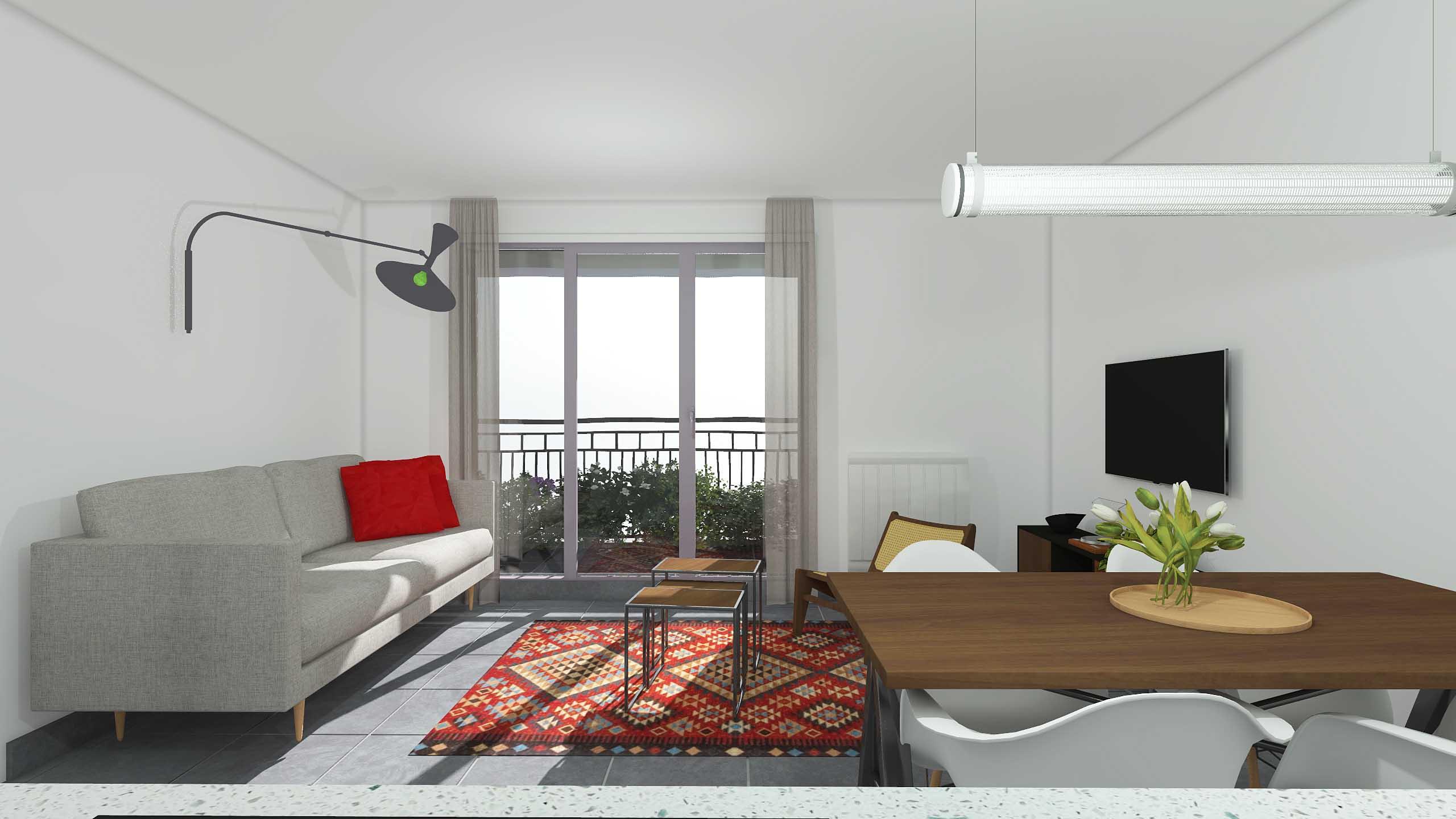 immobilier neuf Rouen balcon