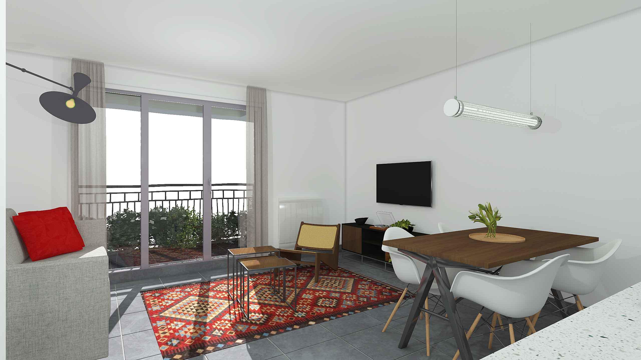 immobilier neuf Rouen séjour